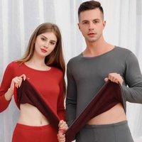 الملابس الداخلية الحرارية للرجال امرأة الشتاء المخملية سميكة الدافئة الطبقات الملابس البيجامة مجموعة الحرارية مجموعة الذكور طويلة جونز -dry 210928