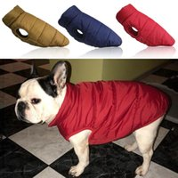 Dog Apparel Winter Warm Clothes Waterproof Pet Padded Vest Zipper Jacket Coat For Small Medium Large Dogs Pug Chihuahua Ropa Para Perros