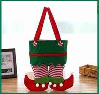 Neue Weihnachten Santa Elf Geist Hosen Strumpf Handtaschen behandeln Taschensüßigkeiten Flasche Geschenke Taschen Geschenk