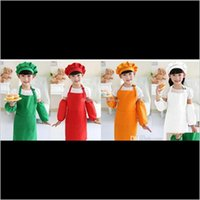 포켓 공예 요리 베이킹 아트 페인팅 부엌 식사 턱받이 어린이 키즈 앞치마 10 색 EYKDM QFHXE