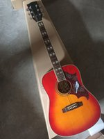 Yeni Varış 41 inç Dove CS Akustik Elektro Gitar Fishman Ile EQ Kiraz Sunburst Gülağacı Klavye Ladin Vücut Üst Yüksek Kaliteli Fabrika Özel