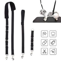 Dog Collars & Leashes Pet Supplies Adjustable Grooming Belly Strap D-rings Bathing Band Free Size Traction Belt Collar Harness