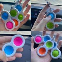 Fidget Toys Simple Keychain Push Push Bubble Jeu Porte-clés Anneau Fidgets Doigt Jouet Anneaux Silicone Stress Stress Stress Stress Stress Stress Releveur Ball H2106