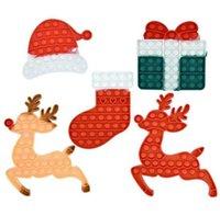 Fidget Juguetes Halloween Caja colorida Caja de regalo Hermit Cangrejo Christmas Elk Hat Socks Push Bubble Anti Tensate Finger Sorpresa