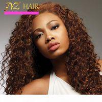 JYZ Glueless volle Spitze Menschliches Haar Perücken Tiefwelle Jungfrau Haarspitze Front Perücke Tiefe Locken Full Spitze Menschenhaar Perücken