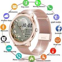 Designer luxury brand watches adies Smart Women Waterproof Fitness Tracker For Xiaomi Huawei Phone Health Music Heart rate smart Woman
