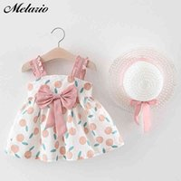 Melario Baby Girls Clothing Baby Girl Clothes Set Outfit Baby Boho Style Summer Beach Outfit Clothe Tops + Pants + Hat 210412