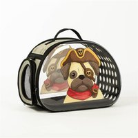 Cat Carriers,Crates & Houses Transparent Pet Bag, Portable Shoulder Strap, Cross-body Outing Foldable And Washable, All-season Universal Com