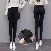Women's Leggings Plus Size 5xl Long Stretch Jean Trousers Elastic High Waist Camo Joggers Women Warm Corduroy Woman Winter Korean