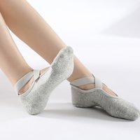 2021 Women High Quality Bandage Yoga Socks Anti-Slip Quick-Dry Damping Pilates Ballet Socks Good Grip For Women Cotton Socks