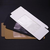 Pcs Black Cell Phone Case Packaging Box With Clear Window Paper Kraft For Mobil Gift Wrap
