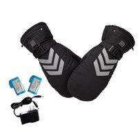 Hand held USB heater winter electric gloves with rechargeable battery ski bike motorcycle 1 pair