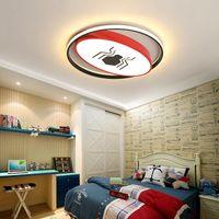 أضواء السقف الحديثة LED للطفل بنات نوم الكرتون العنكبوت / الخفافيش رجل أحمر / أصفر مصباح الأطفال غرفة النوم المصابيح