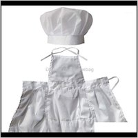 Sets Clothing Baby, Kids & Maternityinfant Apron Set Pography Props, Chef Unisex Baby Uniform Costume Po Props Outfits White1 Drop Delivery