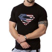 Ürünler erkek Fitness Eğlence Spor Kısa Kollu Penye Pamuk Büyük Boy Sıcak Damgalama Superman T-shirtt682