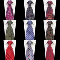 Paisley Jacquard Woven Silk Mens Tie Necktie 8cm Striped Ties for Men Suit Business Wedding Meeting Party