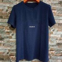 Moda Mens T Shirt Summer Designer Manica Corta Solido Colore Tasco Decorazione Uomo Donna Coppie Collo girocollo Hip-Hop Tee