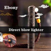 Kreatives Retro Ebenholz winddicht Feuer elektronische Zigarettenanzünder exquisite Kollektion Souvenir Doppelbogen USB-Lade-Feuerer ZC201