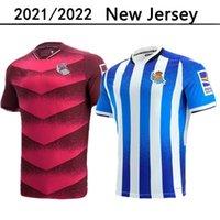 21 22 Real Sociedad Soccer Jerseys 2021 2022 Camisetas de Fútbol Portu Willian J. Silva Oyarzabal Merino Zubeldia Isak Man Kit Kit Kit Kit Alojamiento Camisas de fútbol marrón oscuro