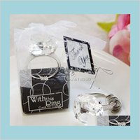 Party Favor Event & Supplies Festive Home Garden Wholesale- Ring Keychain Napkin Wedding Favors And Gifts For Guest Souvenirs Gift Dro