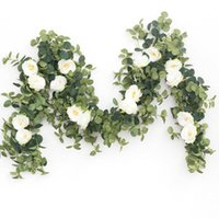 Decorative Flowers & Wreaths 1.8M Artificial Plants Fake Eucalyptu Swall Vine Garland Hanging For Wedding Home Office Party Garden Craft