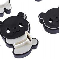 Panda de plástico Moldes de panda Moldes Cortadores de galletas Herramienta de cocina Juego de herramientas para hornear Torta Lindo DIY Sandwich Molde Accesorios de cocina DWE8597