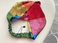 Designer Seide Turban Elastische Frauen Stirnbänder Italien Marken Mädchen Regenbogen Bunte Haarbänder Schal Haare Zubehör Geschenke Kopfwickel