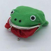 1 stücke Froschform Cosplay Grün Tier Tasche Münze Geldbörse Brieftasche Weiche pelzige Plüsch Geldbörse Geschenk Smart Brieftasche Mini Slim Card Brieftasche 1008 x2