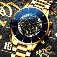 Designer Guarda Marca Orologi Marca Guarda di lusso IC Nero Polso in acciaio Cintura Cintura Calendario Business Erren Uhren Regali per uomo