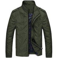 Brand весна и осень Повседневный Сплошной цвет Мода тонкий Bomber Jacket Мужская пальто прибытия бейсбола Jack Жакеты