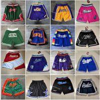 All Team Team Basketball Curto Apenas Don Fãs Esporte Stitched Shorts Calções de Futebol POP Cintura elástica Calças com bolso Zipper Sweatpants em tamanho S- tamanho 2xl