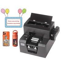 Printers LED UV Inkjet Printer A4 Size Small Home Use For Bottle mobile Phone Case U Disk lighter Printing