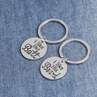 2pc / set keychain 커플 키 링 나는 그녀를 좋아합니다. 나는 그의 편지를 좋아합니다 펜던트 키 체인 합금 자동차 키 반지 선물 169 W2