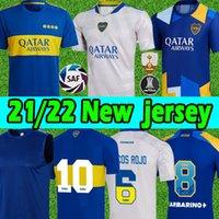 21/22 Boca Juniors soccer jerseys Fans Player version CARLITOS MARADONA TEVEZ DE ROSSI 2021 third 3rd 4th jersey MEN KIDS kits SETS football shirt uniforms Thailand