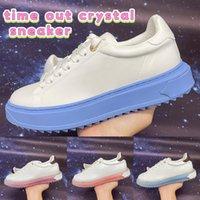 Time Out Crystal Sneaker عارضة الأحذية النسائية المدربين الجامعة الأزرق الوردي أبيض أبيض أزياء أعلى جودة النساء أحذية رياضية الحجم 35-40