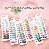 10PCS Set Cartoon Beautiful Fashion Printing Hair Clips Meta...