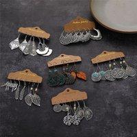Богемные винтажные боготворные серьги для женщин набор для женщин модный этнический лист солнце луна серьги мода ювелирные изделия подарок партии оптом