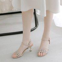 Sandales à carreaux Nouveau lancement de la maquette Haute Summer Summer Femme Tendance Femmes Trend Polyatile Chaussures M6ab
