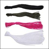 Cordones, eslingas y correas deportivas deportivas al aire libre50 pies de 15 m de 2 mm de diámetro de un stand paracord cables de paracaídas Lanyard Rainbow Cuerda corde para CA