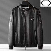 Winter Designer Men Leather Fur Coat Jacket Slim-fit Faux leatherMotorcycle Breeze PU Faur jacketLong sleevewinter M-4XL