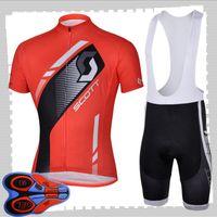 Scott Takımı Bisiklet Kısa Kollu Jersey (BIB) Şort Setleri Erkek Yaz Nefes Yol Bisiklet Giyim MTB Bisiklet Kıyafetleri Spor Üniforma Y210414210