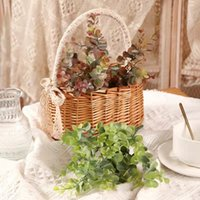Northern Europe Ins style 5 fork Eucalyptus Decorative Flowers & Wreaths Simulated plant Home Furnishing decoration Flower arrangement materials Wedding props