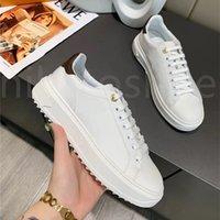 Luxurys مصمم إيطاليا مهلة حذاء منخفضة أعلى عارضة أحذية النساء الدائري المطاط تسولي المطبوعة العجل الجلود المدربين الكلاسيكية