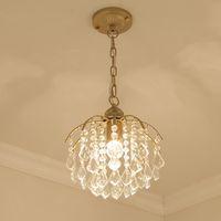 Modern golden  crystal chandelier E27 bulb led lamps Living room led chandeliers lighting led lustre chandelier lamps