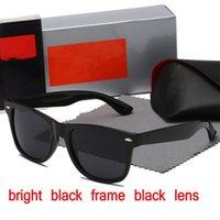 Alta qualità Ray Men Donne Occhiali da sole Vintage Pilot Wayfarer Brand Occhiali da sole Band UV400 Bans Ben con scatola e custodia 2140