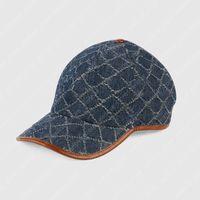 Designers de boné de beisebol bonés Chapéus Mens Womens Luxurys Casquette Carta Denim Imprimir Mens Caps de Beisebol Mens Fitted 2021042101xV
