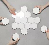 벽 램프 현대 터치 지능형 벌집 모듈 조립 조명 양자 자기 인테리어 DIY 장식 조명