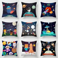 The Universe for Kids Sofa Decorative Pillow Case Space Dream Astronaut Alien Throw Cushions Cover Living Room Decoration Home