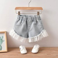Mädchen Shorts Kinder Kleidung Kinder Kleid Kinder Kleidung Sommer Casual Denim Mesh Jeans B5829