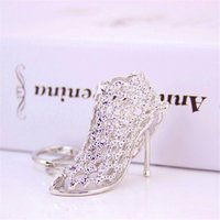 keychain 1PC Hollow Out High heel Shoes Keychain Purse Bag Bule HandBag Pendant For Car Keyring Holder Women Gift